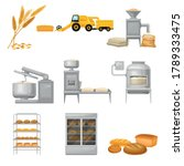 bread production from grain... | Shutterstock .eps vector #1789333475
