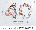 large group of people form to... | Shutterstock .eps vector #1789340822
