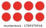 set of vector starburst badges. ...   Shutterstock .eps vector #1789370918