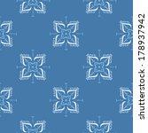 ethnic seamless pattern in blue | Shutterstock .eps vector #178937942