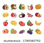 bundle of fresh fruits set... | Shutterstock .eps vector #1789385792