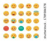 bundle of emojis faces set... | Shutterstock .eps vector #1789386578