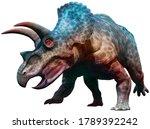 Triceratops Dinosaur Charging...