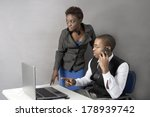 african american manager and... | Shutterstock . vector #178939742