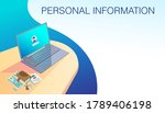 computer and personal...   Shutterstock .eps vector #1789406198