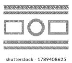 greek frame borders. ancient... | Shutterstock .eps vector #1789408625