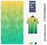 yellow green gradient geometry... | Shutterstock .eps vector #1789408865