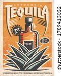 tequila poster design with... | Shutterstock .eps vector #1789413032