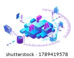 robotic process automation...   Shutterstock .eps vector #1789419578