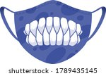 halloween mask   covid 19... | Shutterstock .eps vector #1789435145