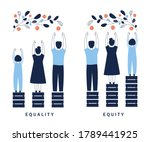 equality and equity concept... | Shutterstock .eps vector #1789441925
