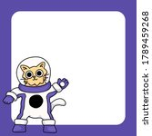 cat wearing space suit cute... | Shutterstock .eps vector #1789459268