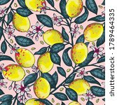 summer lemons plant vector... | Shutterstock .eps vector #1789464335