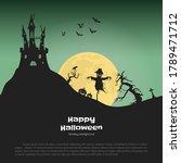halloween banner with fantasy...   Shutterstock . vector #1789471712