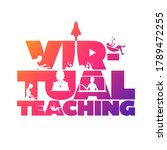 virtual teaching concept... | Shutterstock .eps vector #1789472255