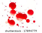 abstract blood on white... | Shutterstock . vector #17894779