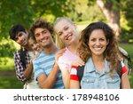 group portrait of happy college ... | Shutterstock . vector #178948106