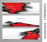 vector banner shapes collection ... | Shutterstock .eps vector #1789483412