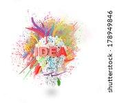 art idea concept  made with...   Shutterstock . vector #178949846