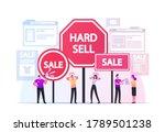 hard sell concept. promoter... | Shutterstock .eps vector #1789501238