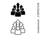 team growth icon vector set ...   Shutterstock .eps vector #1789507148