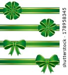 green bows. vector available. | Shutterstock . vector #178958345
