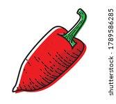 red jalapeno pepper isolated on ...   Shutterstock .eps vector #1789586285