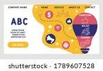 vector website design template .... | Shutterstock .eps vector #1789607528