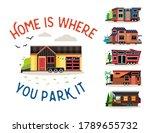 small tiny houses. modern...   Shutterstock .eps vector #1789655732