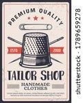 Tailor Shop Vintage Poster ...
