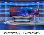 studio interior for news... | Shutterstock .eps vector #1789659392