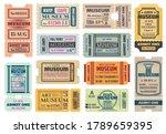 museum retro tickets  admits... | Shutterstock .eps vector #1789659395