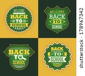 back to school stickers. vector ... | Shutterstock .eps vector #178967342
