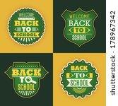 back to school stickers. vector ... | Shutterstock .eps vector #178967342