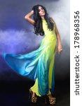 luxurious beautiful brunette... | Shutterstock . vector #178968356