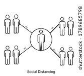 social distancing. keep the 3 3 ... | Shutterstock . vector #1789685798