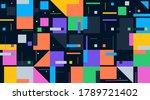 bauhaus composition artwork... | Shutterstock .eps vector #1789721402