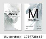 resin art marble grey smoke... | Shutterstock .eps vector #1789728665