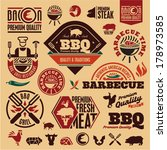 bbq grill vector labels... | Shutterstock .eps vector #178973585