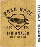 vintage race car and motorbike... | Shutterstock .eps vector #178975358