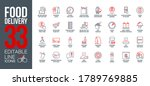 icons set online order and food ... | Shutterstock .eps vector #1789769885