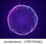 technology particle sphere... | Shutterstock .eps vector #1789790462