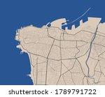 beirut outline map. vector map... | Shutterstock .eps vector #1789791722