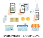 stores that support smartphone... | Shutterstock .eps vector #1789842698