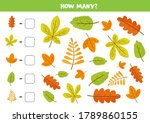 how many autumn leaves are... | Shutterstock .eps vector #1789860155