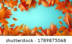 autumn background poster and... | Shutterstock .eps vector #1789875068