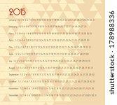 2015 european year calendar  | Shutterstock . vector #178988336