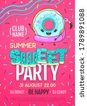 disco party poster with...   Shutterstock .eps vector #1789891088
