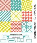 vector set of nine backgrounds... | Shutterstock .eps vector #178990526