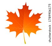 autumn leave or orange leaf... | Shutterstock .eps vector #1789906175